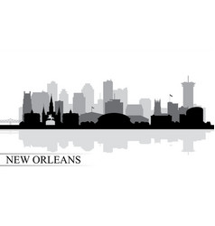 new orleans city skyline silhouette background vector image vector image