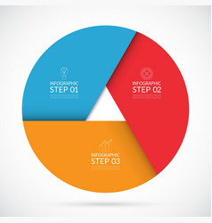 Three steps infographic circle template vector