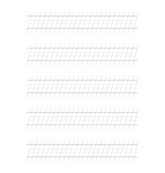 55 degree guide sheets calligraphy paper vector