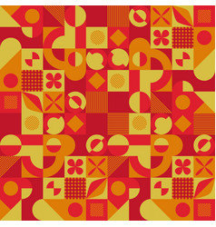 abstract red and yellow geometric background vector image
