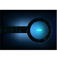 abstract technological modern button background vector image