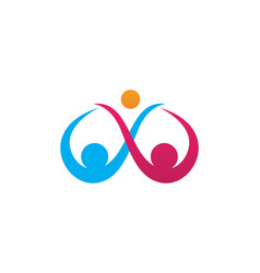 Adoption and community care logo template icon vector