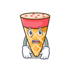 Afraid ice cream tone mascot cartoon vector