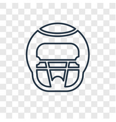 american football helmet concept linear icon vector image
