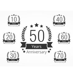 Anniversary Emblems vector