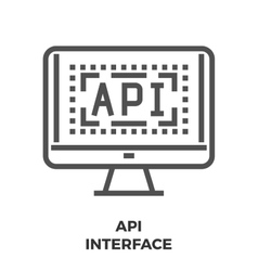 API Interface Line Icon vector