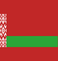 belarus flag icon in flat style national sign vector image