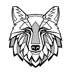 Black Wolf head vector