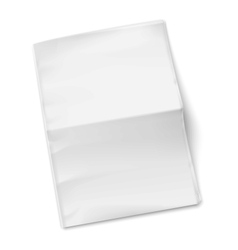 Blank newspaper template on white background vector image