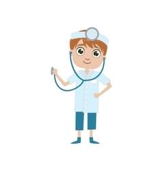Boy future doctor vector
