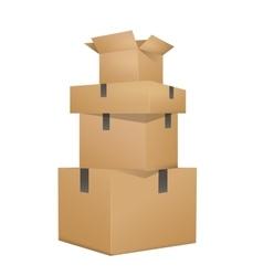 Brown boxes packaging vector