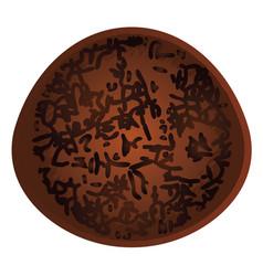 Brownie cake design vector