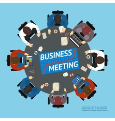 Business people at a negotiating table vector