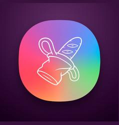 Canvas bread bag app icon vector