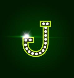 Casino and resort letter j luxury letter vector