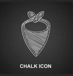 Chalk cowboy bandana icon isolated on black vector