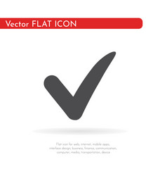check icon for web business finance and vector image