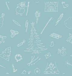 christmas background simple seamless vector image