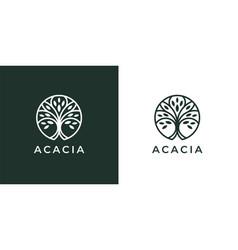 circle tree logo icon vector image