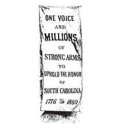 Civil war banner in south carolina vintage vector