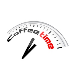 Clock coffee time vector