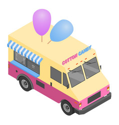 cotton candy truck icon isometric style vector image