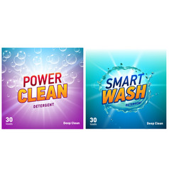 creative laundry detergent concept packaging vector image