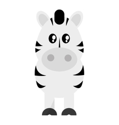 cute zebra cartoon icon vector image
