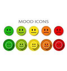 Different mood five levels vector