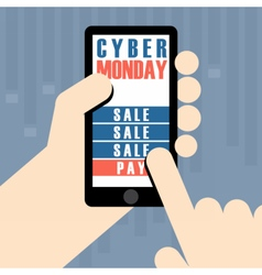 Digital cyber monday sale banner design vector image