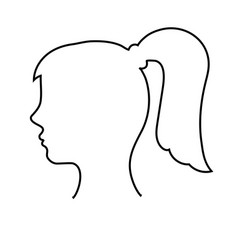 Empty womans head outline vector