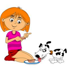 feed dog vector image