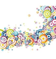 Fresh rainbow wave vector image