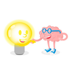 friendship brain with lamp vector image