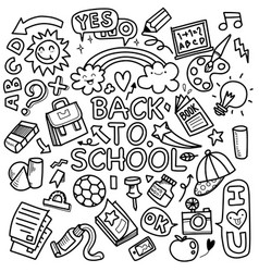 Funny pattern with school supplies and creative vector