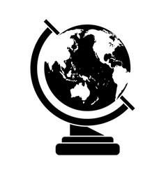 Globe map school design pictogram vector