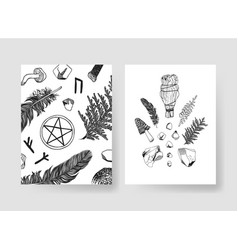 hand drawn patterns brochures actual vector image