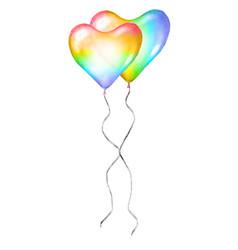 heart balloons lgbt love romantic icon couple vector image