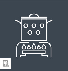 hot cooking food related thin line icon vector image
