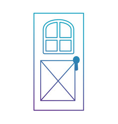 house door isolated icon vector image