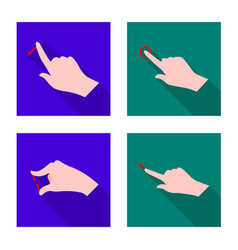 Isolated object touchscreen and hand symbol vector