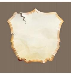 Labels old paper texture Set EPS 10 vector image