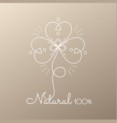 Logo abstract flower vector