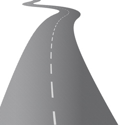 Long Swirling Road vector image
