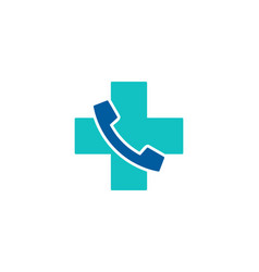 medical call logo icon design vector image