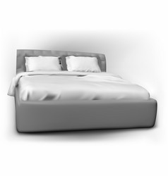 Modern bed with pillow vector