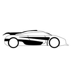 Modern fast car outline vector