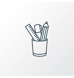 pencil stand icon line symbol premium quality vector image