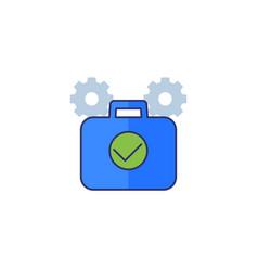 Portfolio optimization finance icon vector