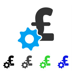 Pound payment options flat icon vector